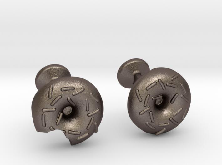 Doughnut Cufflinks 3d printed