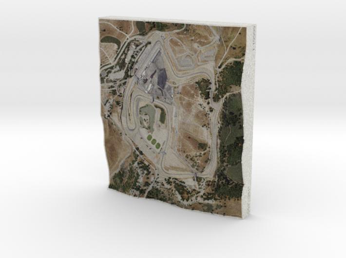 Laguna Seca, California, USA, 1:10000 3d printed