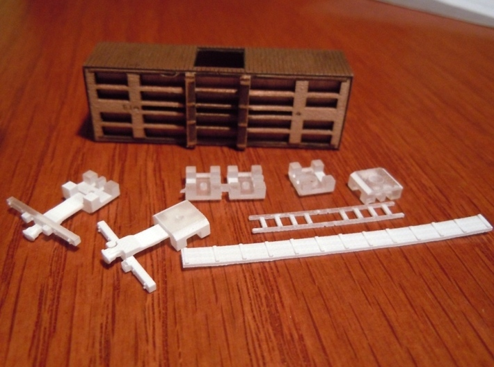 A55 N Upgrade parts, Republic Loco Civil War cars 3d printed