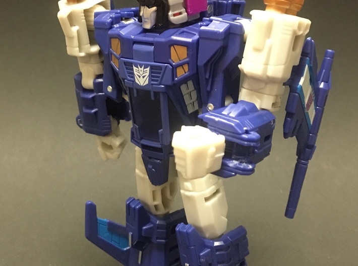 Titans Return Triggerhappy to Swoop Helmet 3d printed Low resolution home printed test for fit and size.