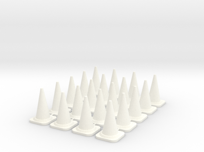 20x PACK 1:50 Construction cones / Kegel. 3d printed