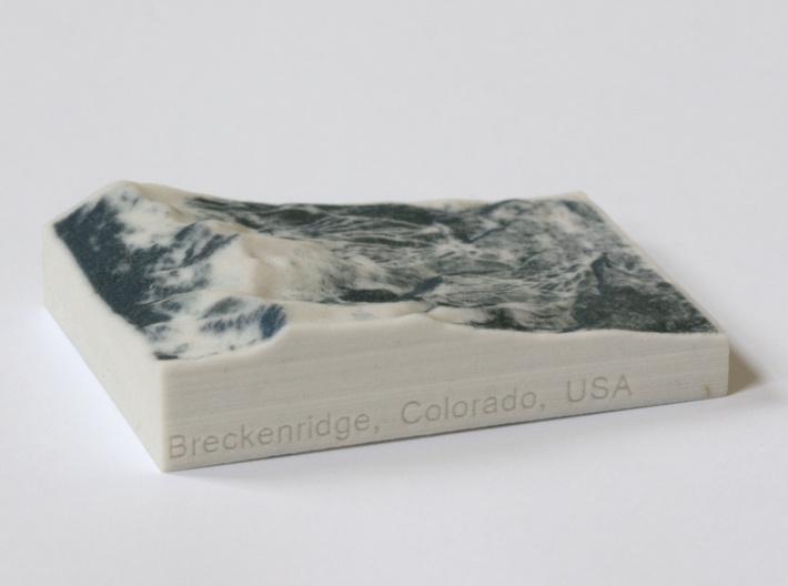 Breckenridge in Winter, Colorado, 1:100000 3d printed