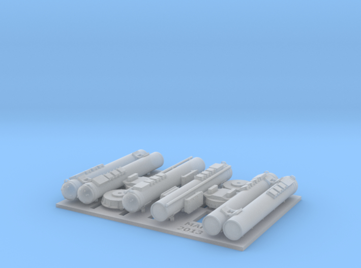MK32 Torpedo tubes x 2 - 1/87 3d printed