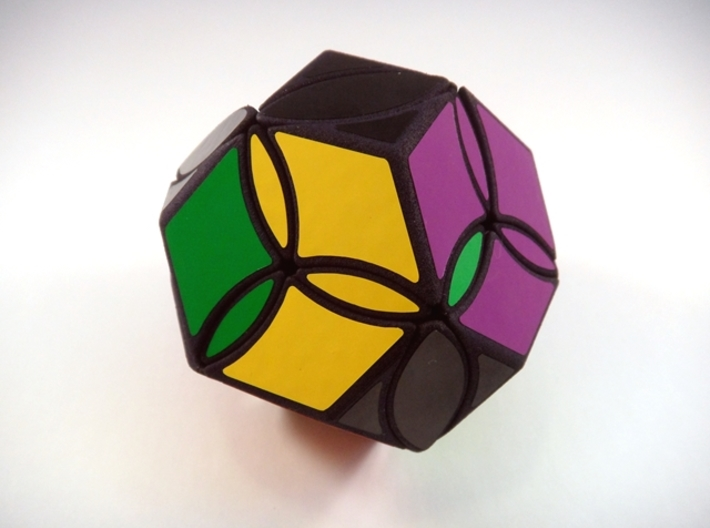 Poison Ivy Octahedron Puzzle 3d printed Three Turns