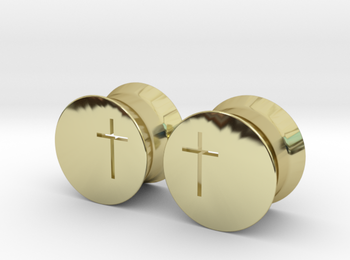 Crucifix Earring Gauges 3d printed