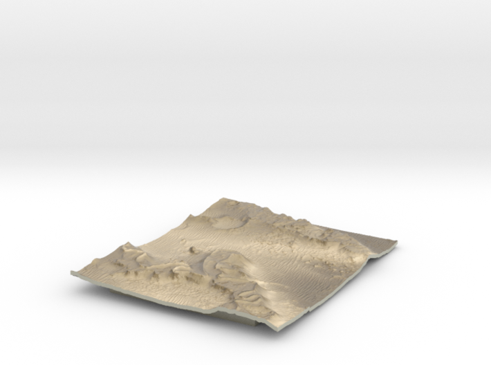 Mars Map: Martian Meanders - Sepia 3d printed