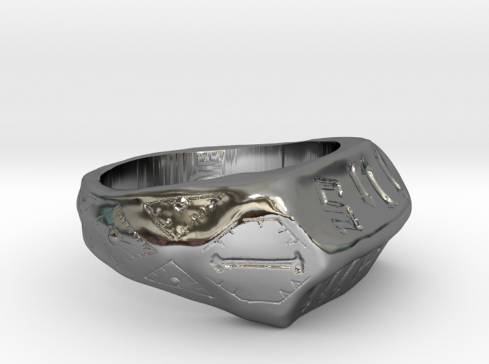 Joan of Arc Communion Ring Size 9 3d printed
