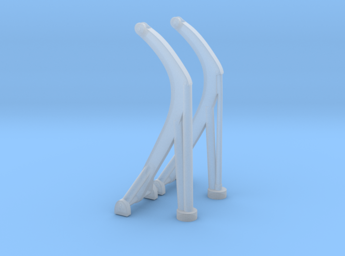 1/128 Davits for 26-foot Motor Whaleboat 3d printed