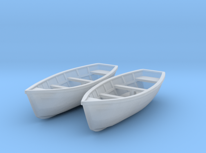 Wooden boat. HO Scale (1/87) 3d printed