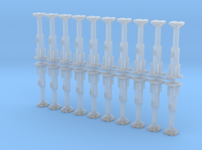 15mm Stanchions (Hydraulic Jack) 3d printed