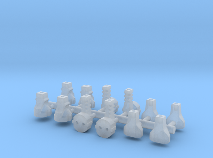 12 EU Plugs for a dollhouse 3d printed