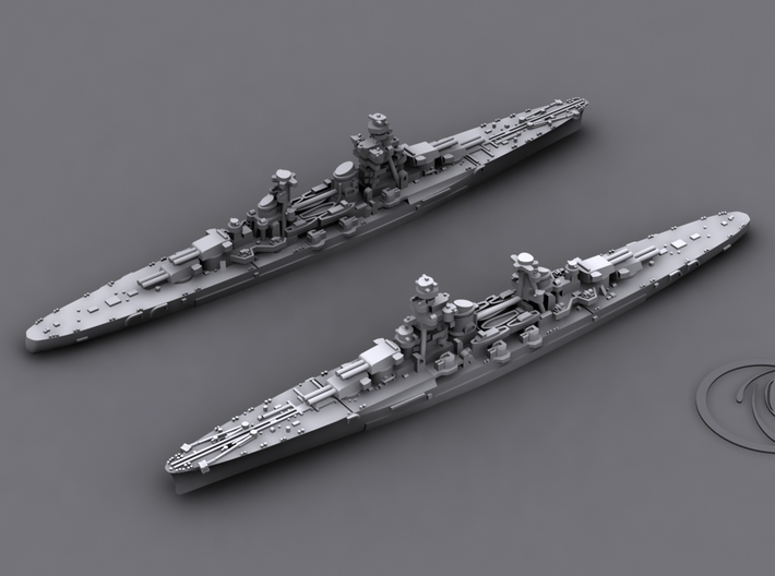 1/1800 IT CA Fiume [1941] 3d printed Computer software render