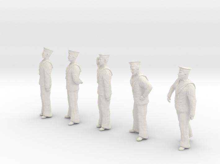 1-24 Royal Navy Sailors Set1-1 3d printed
