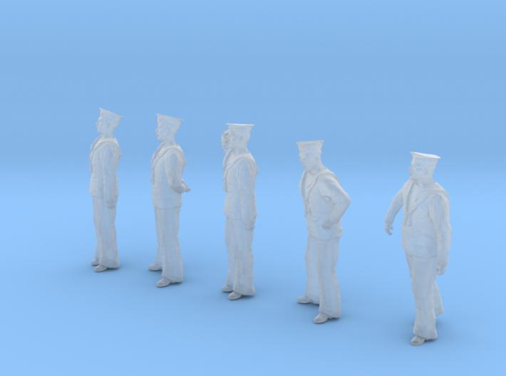 1-35 Royal Navy Sailors Set1-1 3d printed