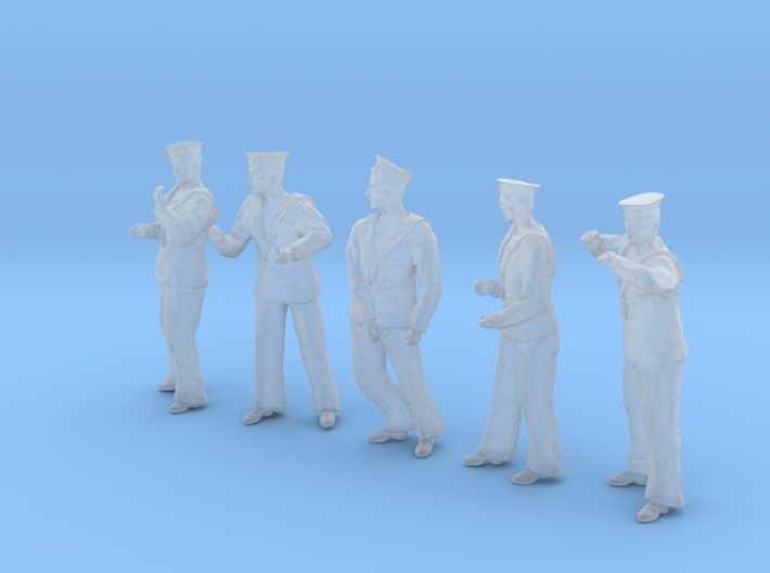 1-35 Royal Navy Sailors Set1-3 3d printed