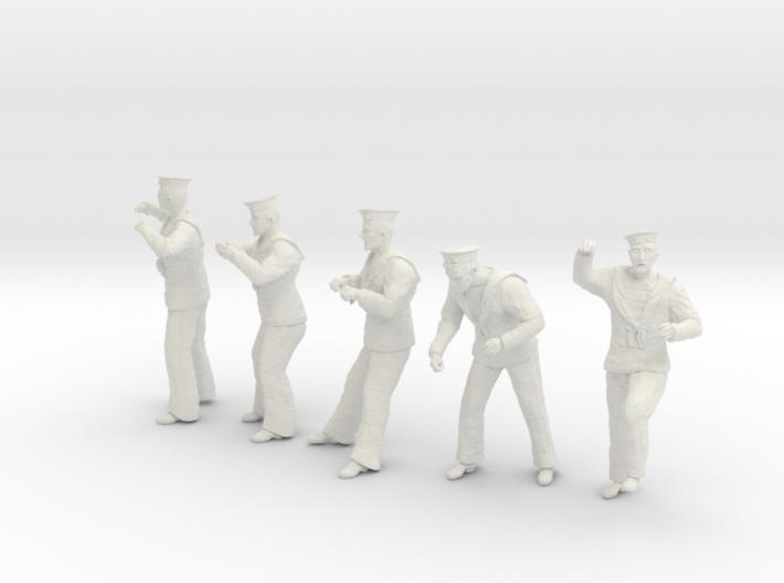 1-24 Royal Navy Sailors Set1-4 3d printed