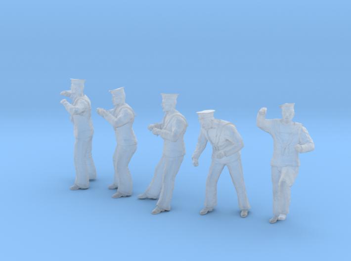 1-56 Royal Navy Sailors Set1-4 3d printed