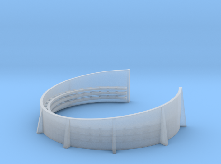 1/192 Starboard Aft Port Superstructure Tub Combo 3d printed