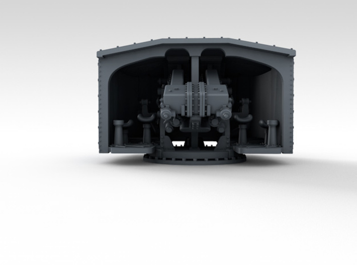 "1/350 4.7"" MKXII CPXIX Mount x4 25º Closed Ports 3d printed 3d render showing product detail"