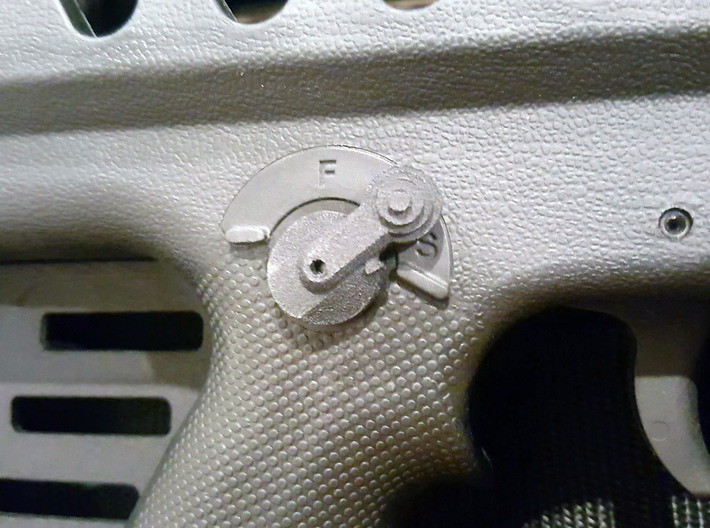 Thumbpin: Bevel body, Left-side - Tavor Safet 3d printed