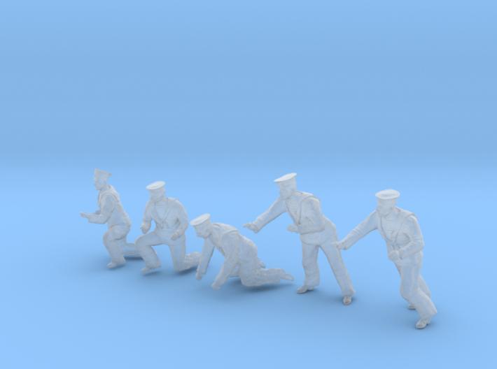 1-35 Royal Navy Sailors Set1-5 3d printed