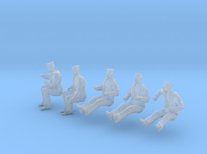 1-56 Royal Navy Sailors Set1-6 3d printed