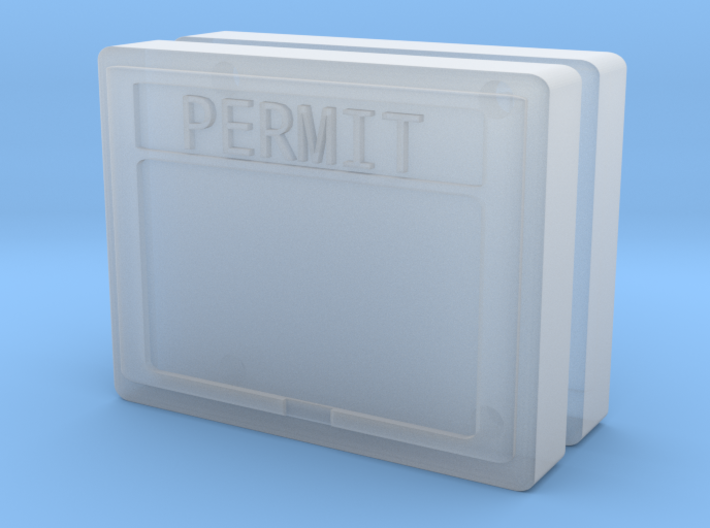 1:50 Permit box Diorama accessory set of two.  3d printed