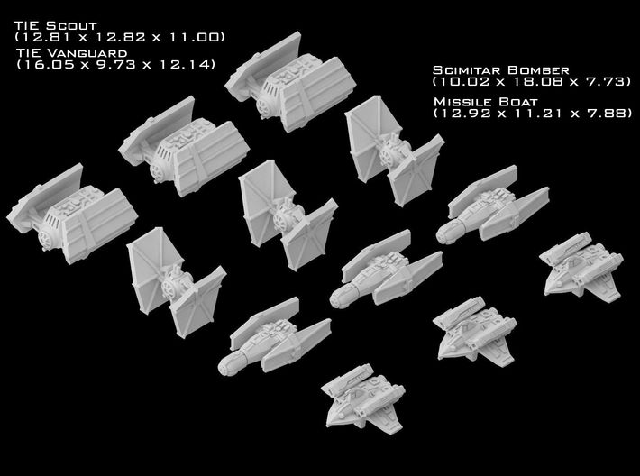 (Armada) Imperial Fighters Set III 3d printed