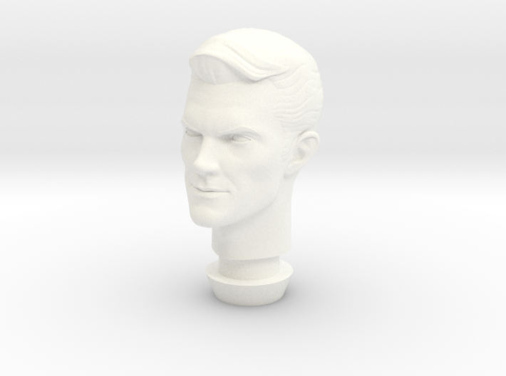 1:9 Scale James West Head 3d printed