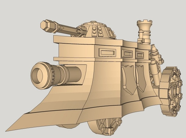 10mm Imperial Steam Tank 3d printed