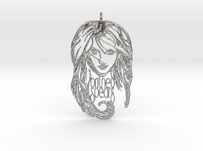 Britney Spears Pendant - Exclusive 3D Britney Spea 3d printed