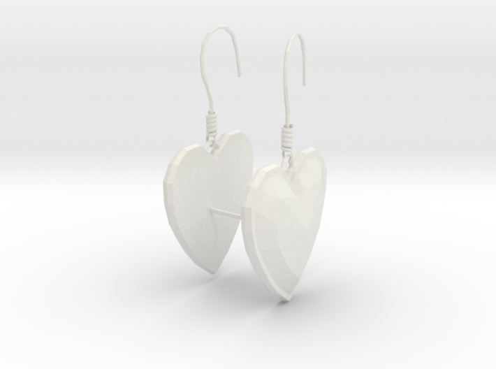 Hearts Earrings 3d printed