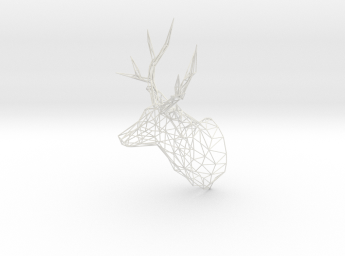 Deer Stag Trophy Head 400mm High 3d printed