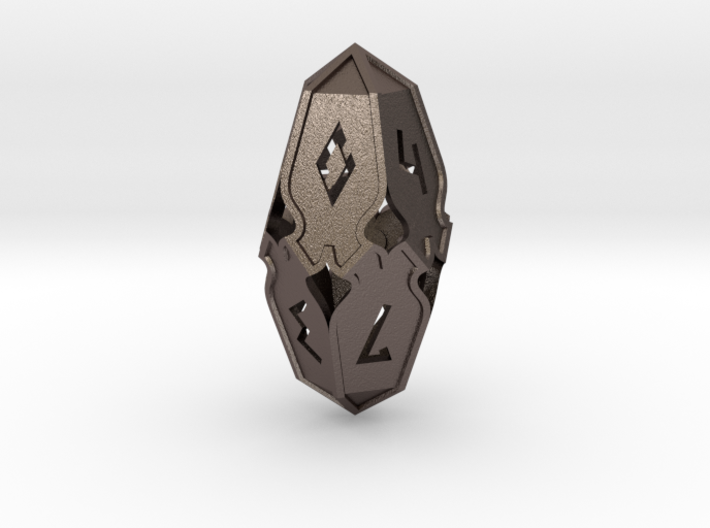Amonkhet D10 gaming die - Large, hollow 3d printed