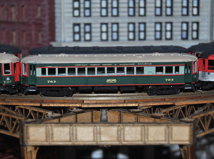 CNSM 741 - 751 series coach 3d printed Painted by Randy S. CNSM modeler.