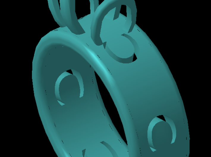 Ring horseshoe 3d printed