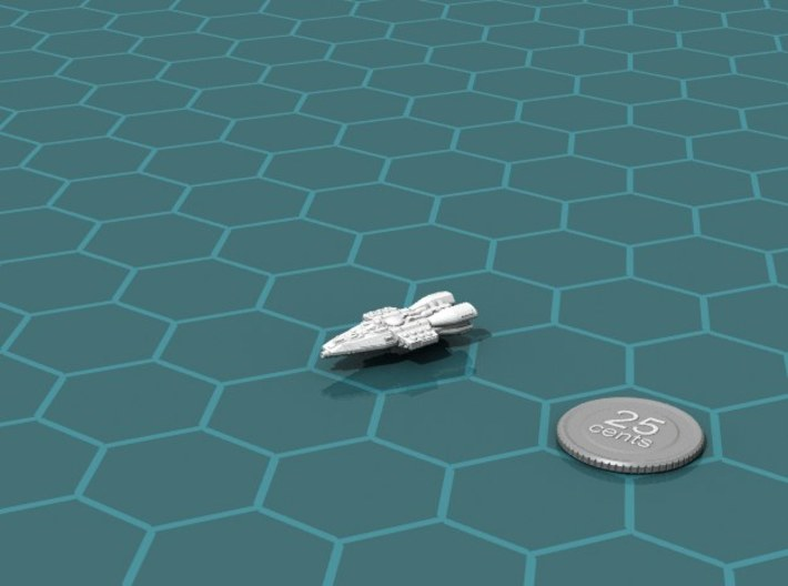 Colonial Escort 3d printed Render of the model, with a virtual quarter for scale.