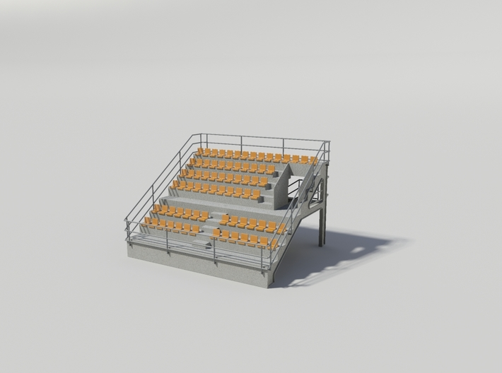 Grandstand uncovered, ideal for slot car track 3d printed Tribune uncovered