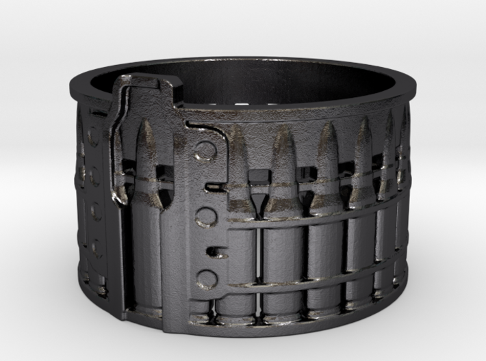 AK-47 75 rnd. Drum, Ring Size 10 3d printed
