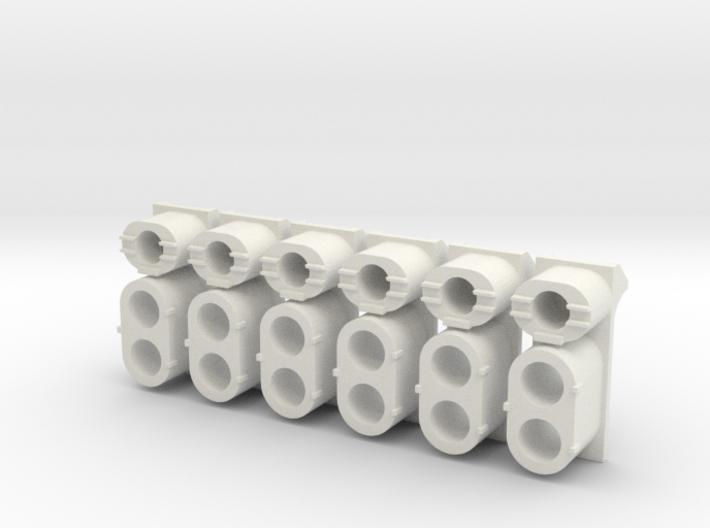 SP High Hood Cluster (G - 1:29) 3d printed