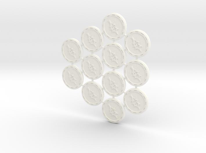 Descent Leaf tokens (12 pcs) 3d printed
