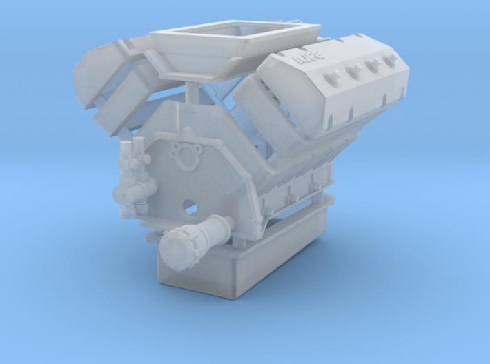 AJPE 1/25 Hemi Single w/ Blower Manifold 3d printed