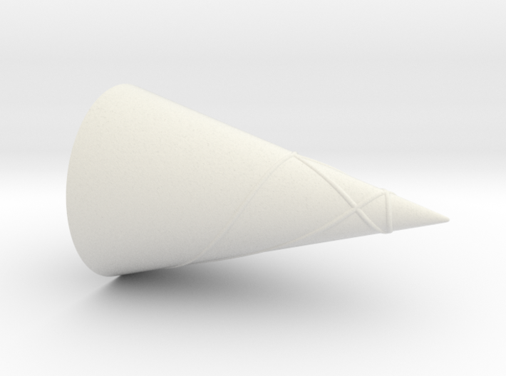 Geodesics Between Points on a 100 Degree Cone (4) 3d printed