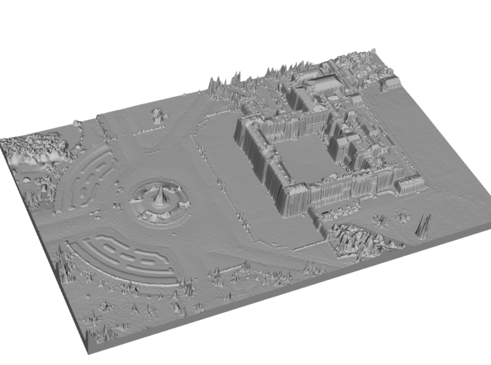 Buckingham Palace Map, London 3d printed