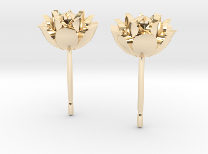 Lotus earrings 3d printed