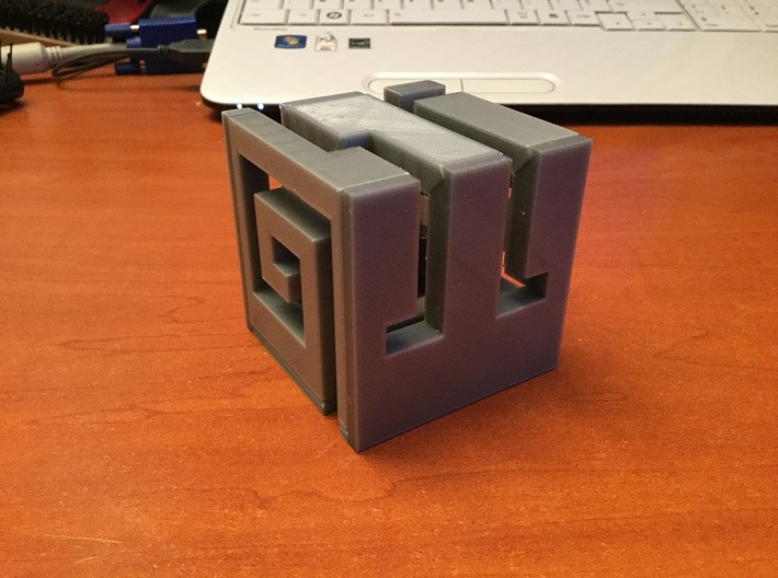 Buildable Nuva Cube Water 2/6 3d printed Assembled Cube