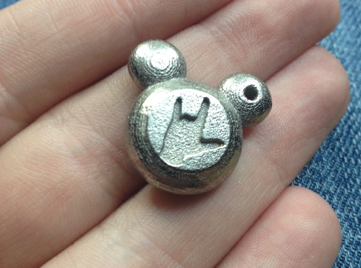 "Mickey Mouse ""I Love You"" Charm 3d printed"