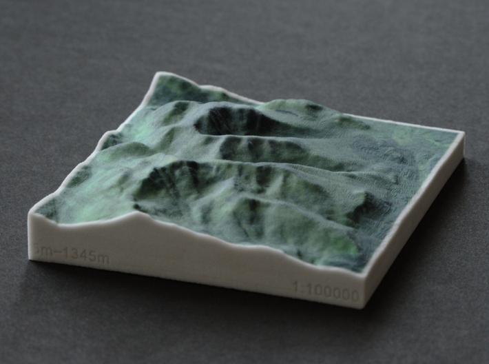 Ben Nevis, Scotland, UK, 1:100000 3d printed Old colors