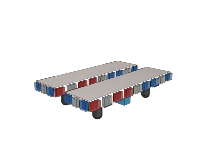 Light Bar - Square 1-87 HO Scale (2 Pack) 3d printed