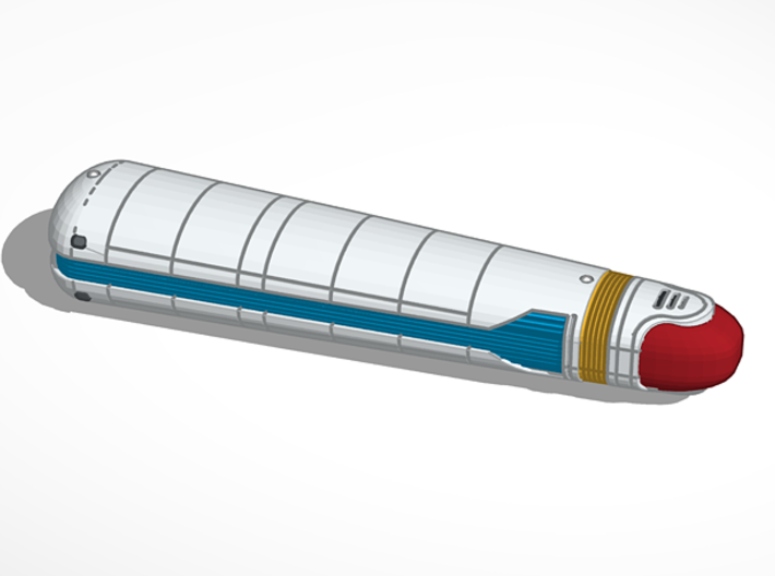 2500 Galaxy Nacelle 3d printed